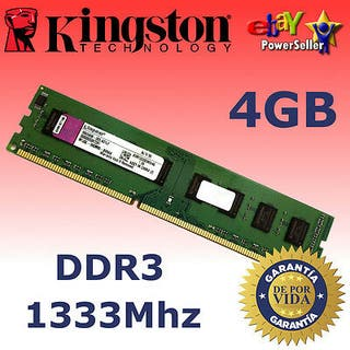 RAM KINGSTON DDR3 DE 4GB 1333MHZ