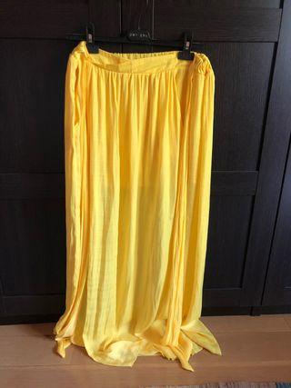 Falsa larga amarillo Zara