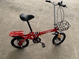 Bicicleta plegable aluminio con frenos de disco