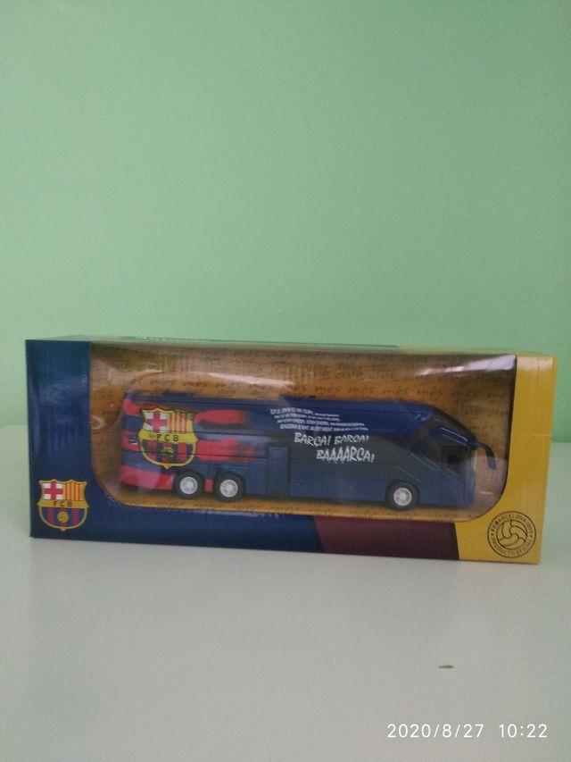 Autobús del FC Barcelona en miniatura