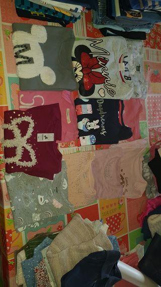 lote niña 4 4-5 pantalones,camisetas y sudaderas