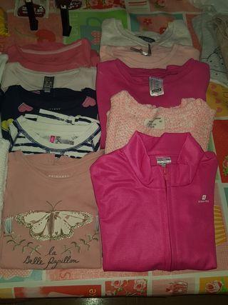 lote ropa niña camisetas sudaderas jerseys