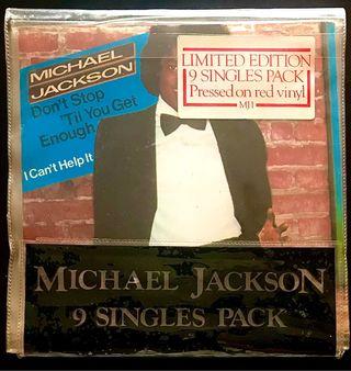LOTE 9 SINGLES MICHAEL JACKSON VINILOS 7 ROJOS