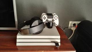 PlayStation 4 Pro Limited Edition con periféricos.
