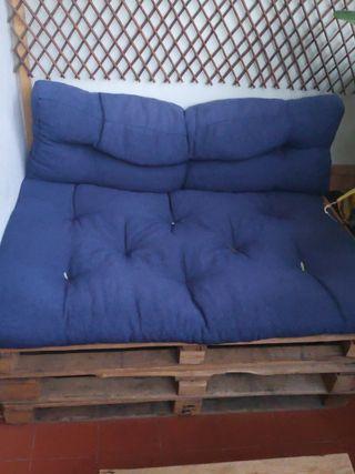 sofa exterior + cojines + mesa