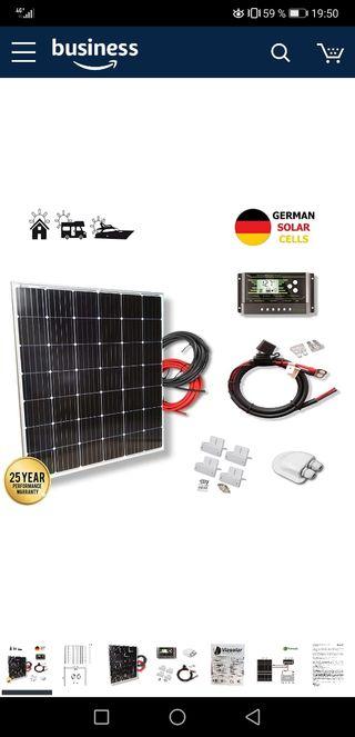 Kit Placa solar 200w 12v eco