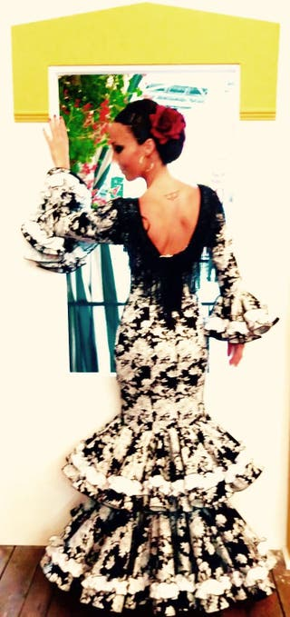 Vestido flamenca/sevillana. Talla 36/38