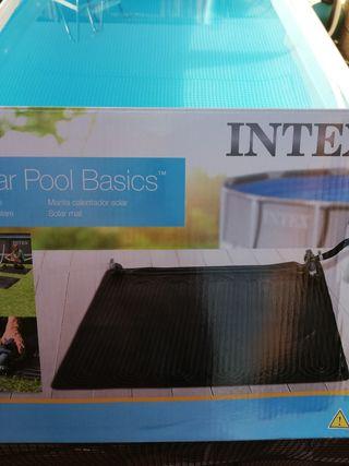 Manta solar para calentar el agua de la piscina