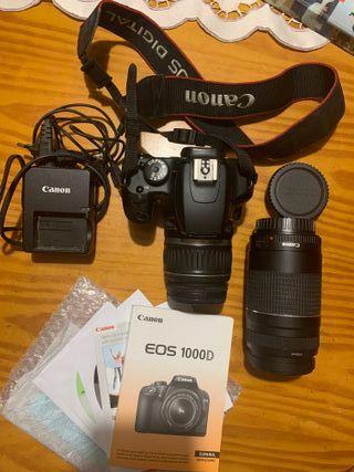 Canon 1000D,Objetivo 75-300 + accesorios