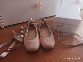 Zapatos rosa nude comunión