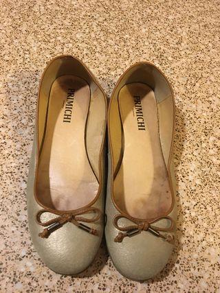 Zapatos bailarinas doradas N. 40 Primichi bodas