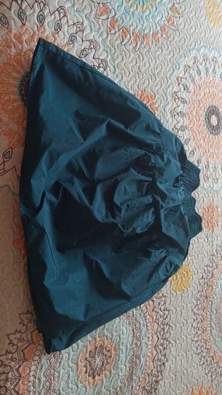 falda midi tafeta