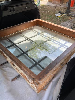 Finestra ventana de doble cristal i reja de 95/95