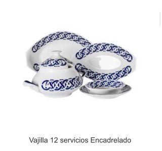 Vajilla porcelana Sargadelos completa (12 serv)