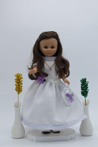 OLIVIA - Vestido de comunión para muñeca