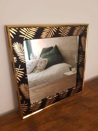 NUEVO - Espejo madera tropical (40x40 cm)