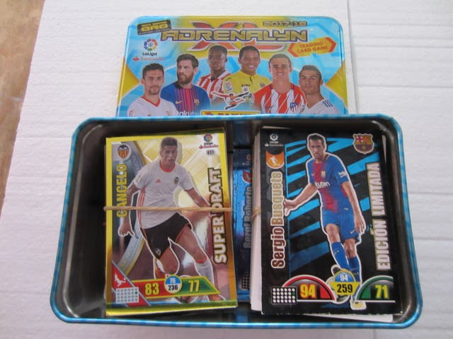 colección de cromos de futbol y lata gran lote