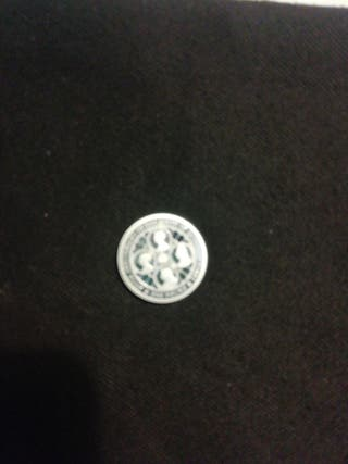 Queen victoria solid silver proof £1 coin