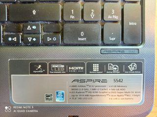 Portátil Acer Aspire 5542 ( PIEZAS )