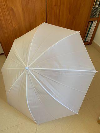 Paraguas traslúcido para fotografía