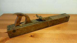 Antigua herramienta Garlopa Cepillo madera Ribot C