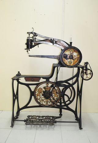 Antigua máquina de coser de zapatero