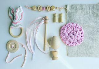 Saco de los tesoros baby pink