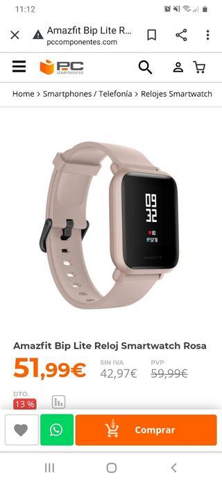 vendo reloj amazfit nuevo con garantía de tienda