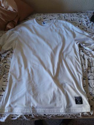 Camiseta Larga Blanca L