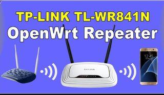 Router Repetidor WiFi Openwrt antenas desmontables