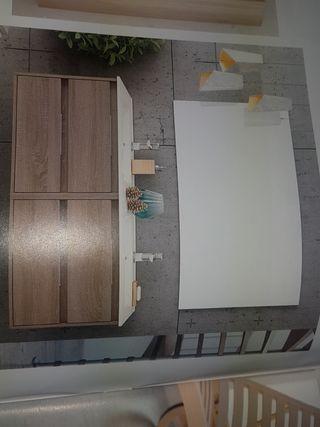mueble de baño dos senos 120 cm