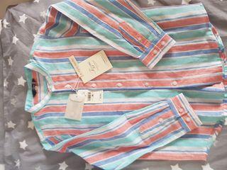 Camisa lino Tizzas Con ETIQUETAS. T.5-6