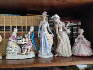 Figuras de porcelana decorativas