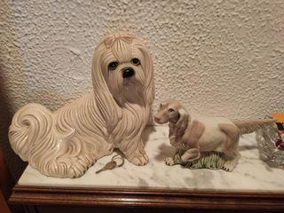 Figura perro porcelana
