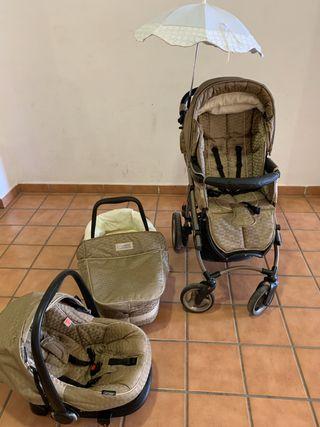 Carro con silla, capazo y maxicosi