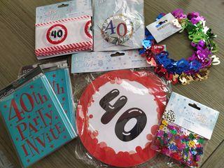 Kit 40 cumpleaños