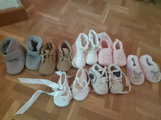 lote zapatos bebe de 0 hasta 6 meses