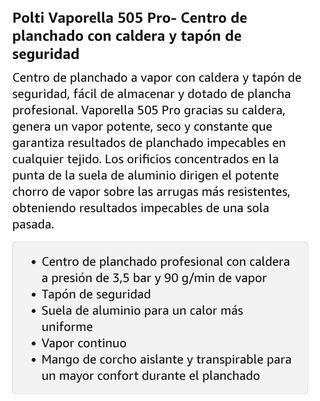 Centro de planchado. Vaporella 505 pro