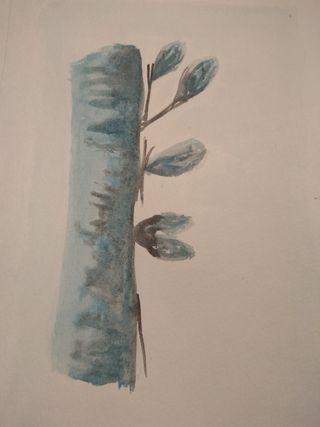 Acuarela original: bambú
