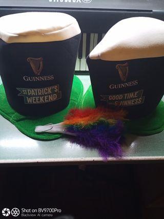 Sombreros 26cm de largo Guinness y abanico