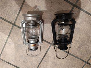 Faroles de queroseno vintage antiguos.