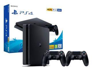 PS4 SLIM 500GB NUEVA CON 2 MANDOS