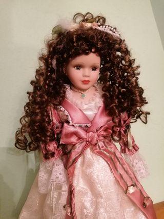 muñeca de porcelana de colección vintage