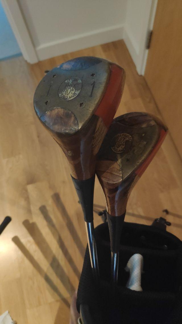 Vintage golf club set worth 70 GBP