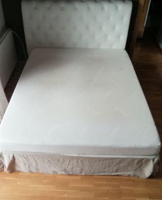 colchón tempur + somier flex