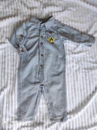 Mono,buzo vaquero. Talla 6-9. Ropa bebé. Pijama