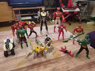 lote juguetes power rangers