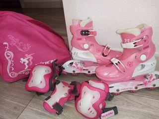 patines con todo el equipo
