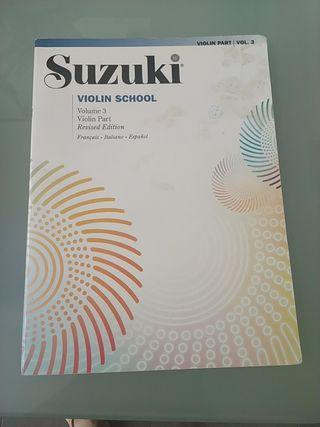 Suzuki violín volumen 3