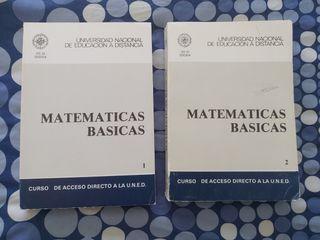 Matemáticas Básicas 2 vol. UNED. Prueba de acceso